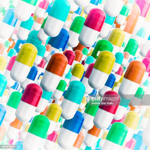 Multi-colored pill capsules