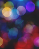 Multicolored sparkling lights