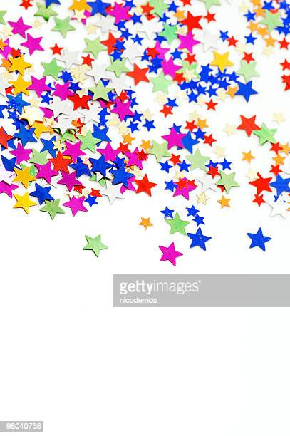 Multicolored Star Confetti