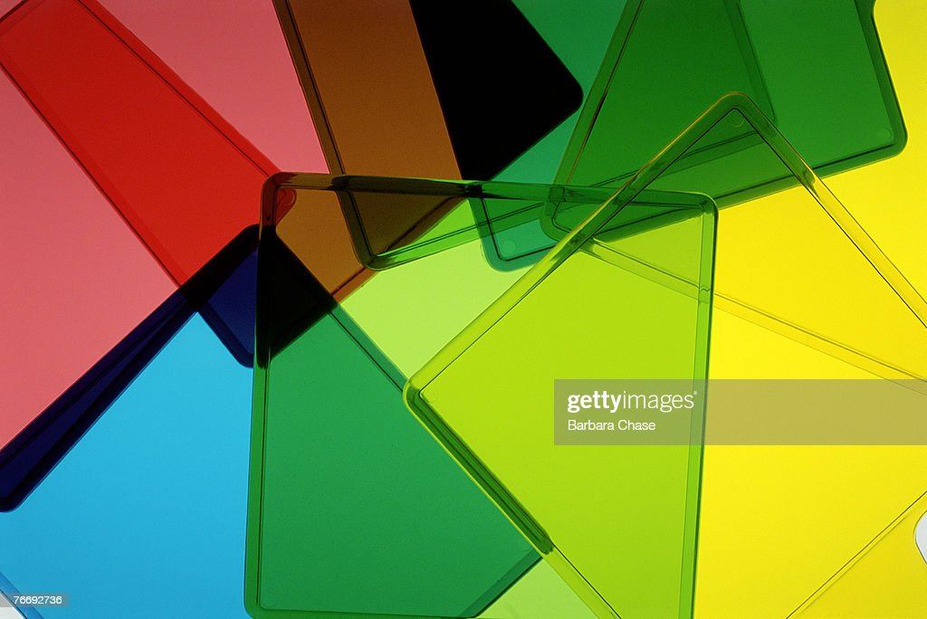 Multicolored transparent squares