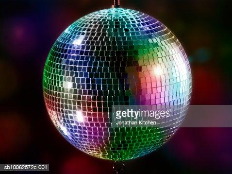 Multi-coloured disco mirror ball : Stock-Foto