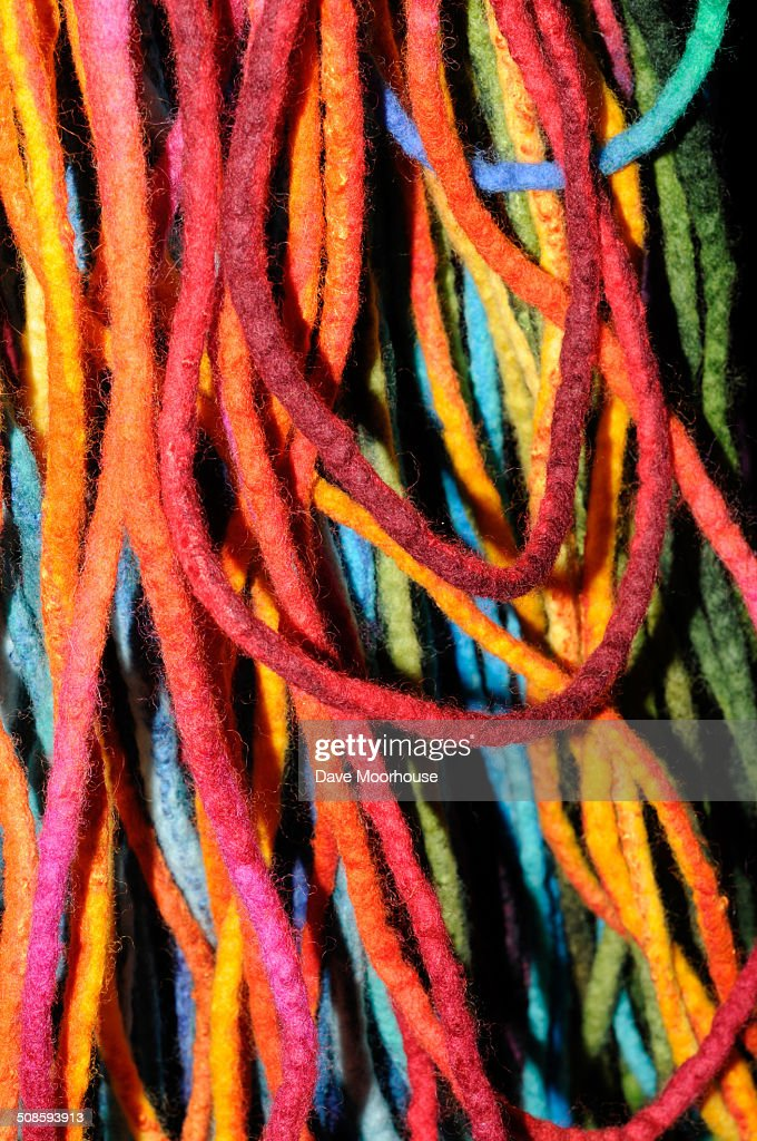 Multi-coloured felted yarn : Stock Photo