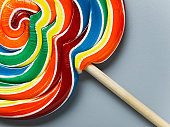 Multicoloured lollipop, close-up