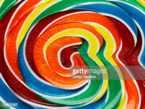 Multicoloured lollipop, extreme close-up : Stock Photo