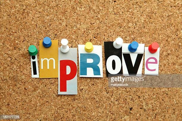 Multi-coloured message 'Improve