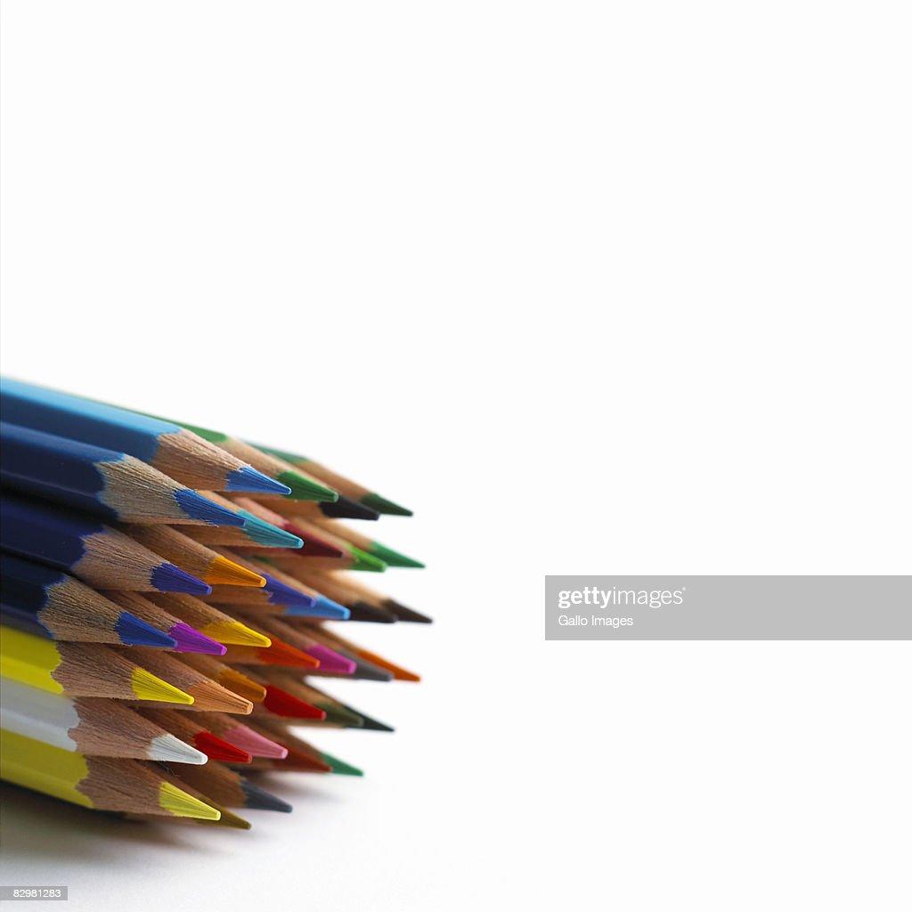 Multi-coloured pencils : Stock Photo