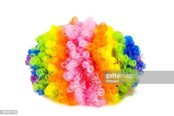 Perruque multicolore