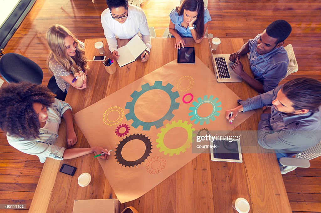 Multicultural business group meeting. : Stock Photo