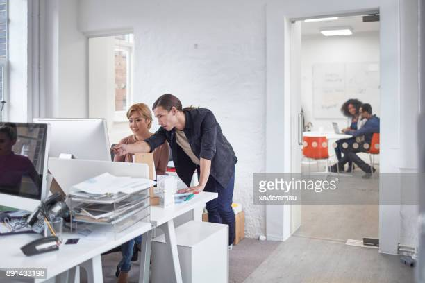 Multi-ethnic business people working in the office