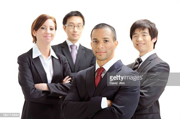 Multiethnic business team