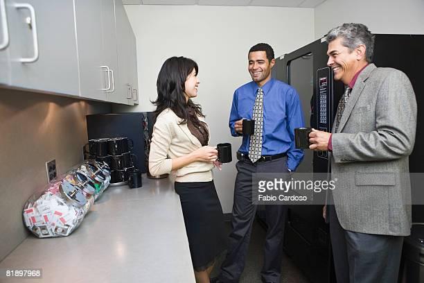 Multi-ethnic businesspeople having coffee break