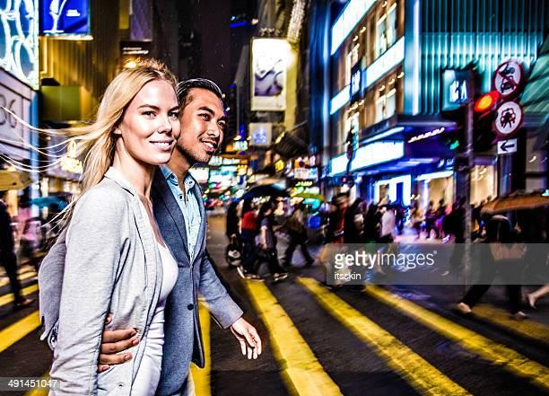 Multi-ethnischen Paar in Hong Kong