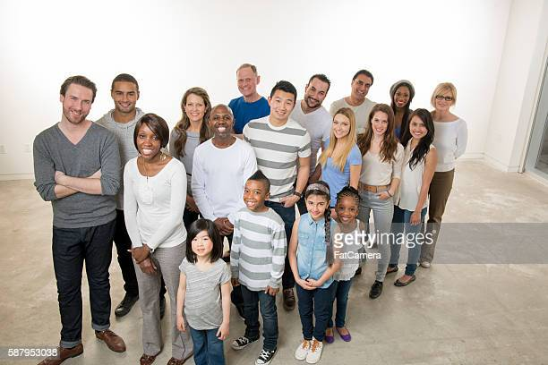 Multi-Ethnic Family Group