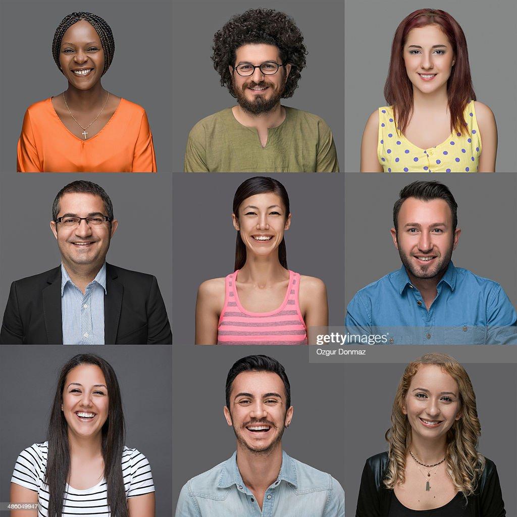 Multi-Ethnic Group Of People