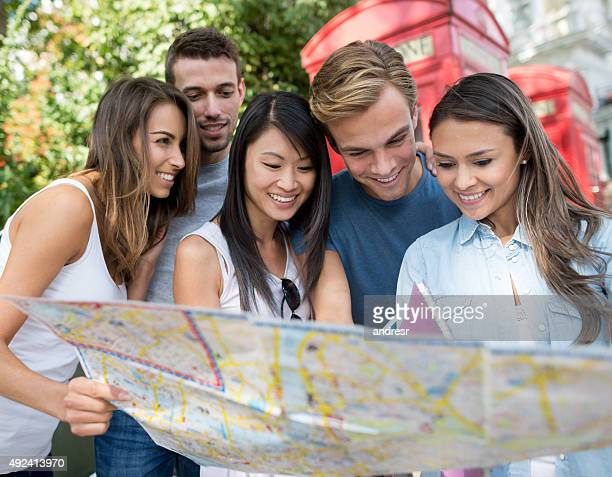 Multi-ethnic group of people traveling