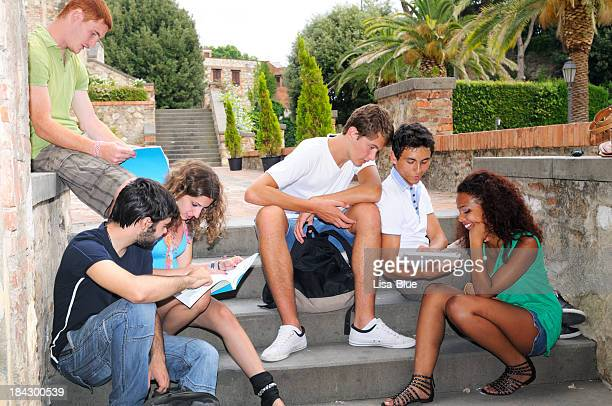 Multi-Ethnic Group of Students in a Campus