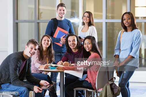 Multi-ethnic group of students : Stock Photo