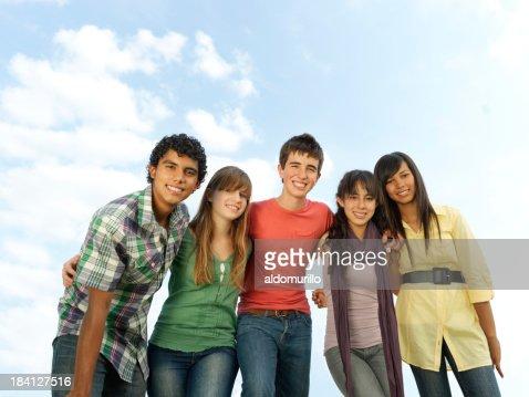 Multi-ethnic teenagers