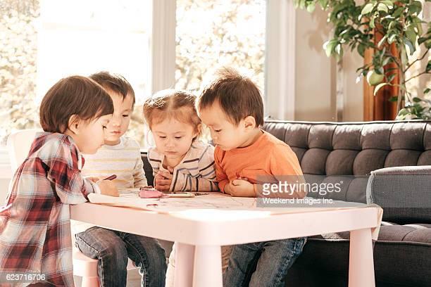 Multi-ethnic toddler group