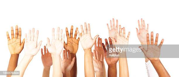 multi ethniques jeunes adolescents mains