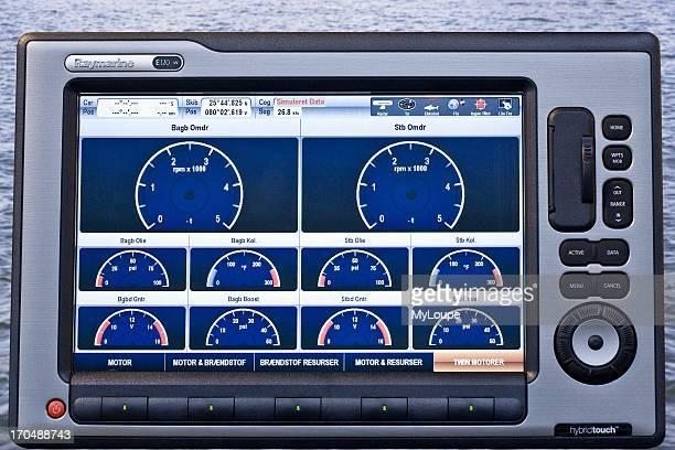 Multifunction widescreen navigation GPS chart plotter for maritime navigation
