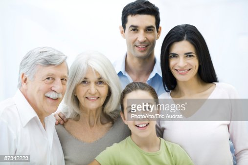 Multi-generation family, group portrait : Stock Photo