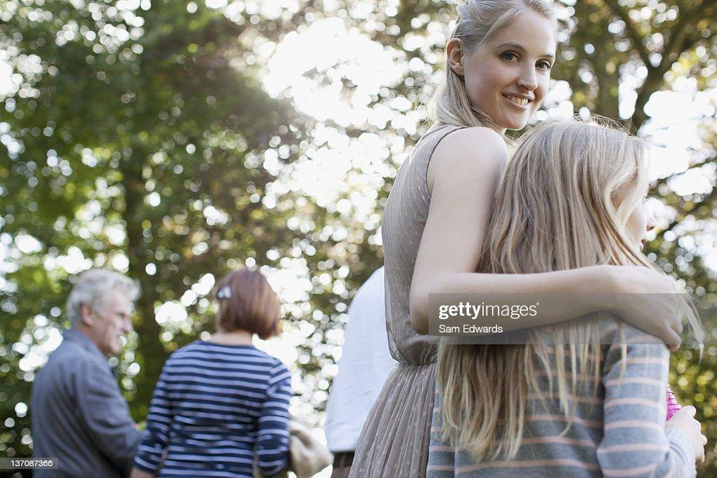 Multi-generation family in park : Stock Photo