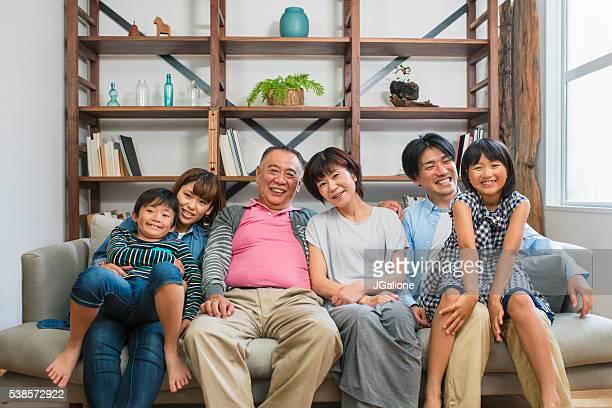 多世代家族のポートレート