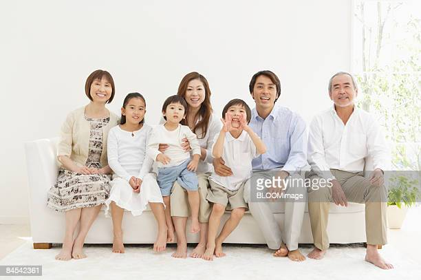 Multi-generation family, portrait