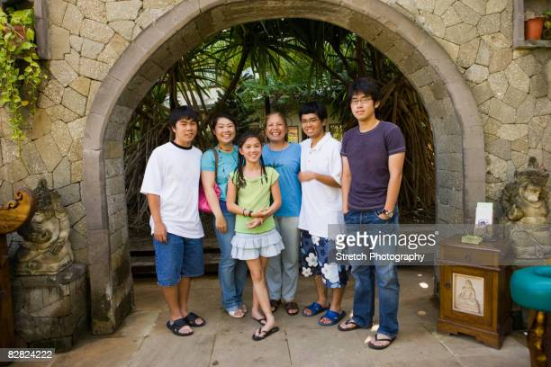 Multi-generational Asian family portrait