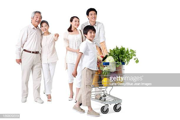Multi-Generational Family Grocery Shopping