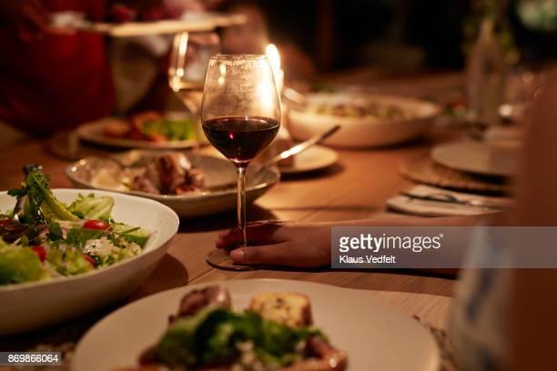 Multigenerational family having dinner