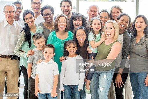 Multi-Generationen Gruppe von Personen
