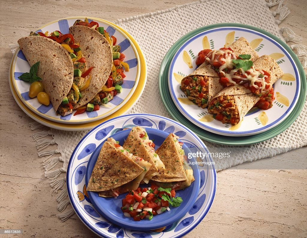 Multi-grain Mexican entrees : Stock Photo