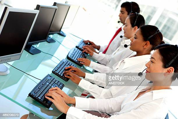 Multi-language customer service representatives at Call center