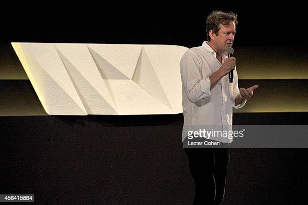 Multimedia artist Doug Aitken speaks onstage at the WIRED by Design retreat at Skywalker Sound on September 30 2014 in Marin County California