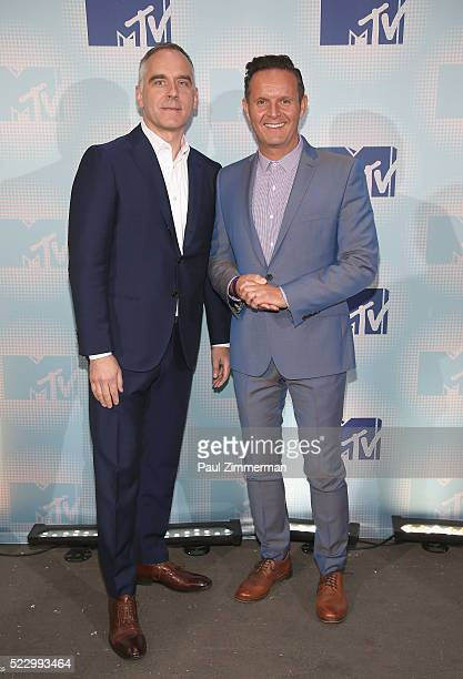 MultiPlatform Strategy and Music Viacom Media Networks Erik Flannigan and Mark Burnett attends the 2016 MTV Upfront At Skylight At Moynihan Station...
