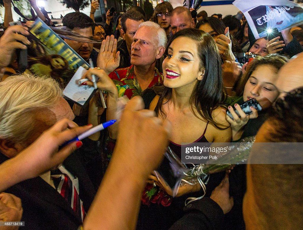 Multi-platinum artist Lana Del Rey premieres 'Tropico' at Cinerama Dome at ArcLight Cinemas on December 4, 2013 in Hollywood, California.