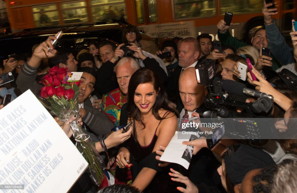 Multi-platinum artist Lana Del Rey premieres 'Tropico' at Cinerama Dome at ArcLight Cinemas on December 4, 2013 in Hollywood, California.