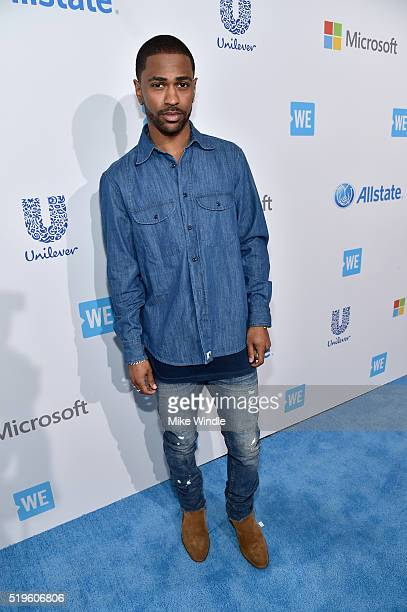 Multiplatinum Grammynominated hip hop recording artist Big Sean attends WE Day California 2016 at The Forum on April 7 2016 in Inglewood California