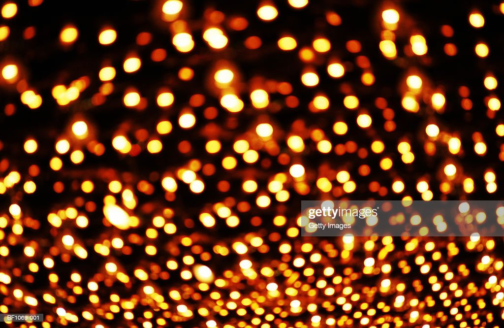 Multiple amber lights (defocussed) : Stock Photo