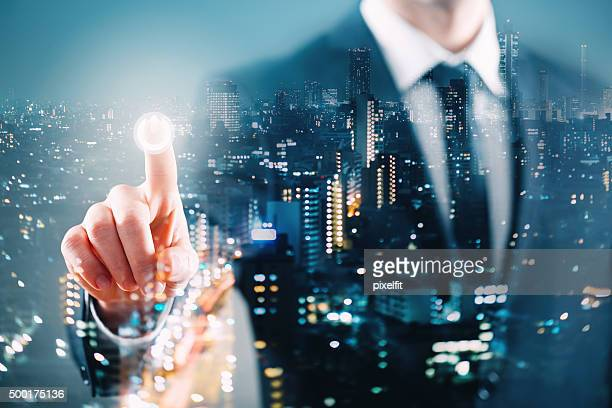 Multiple exposure business concept
