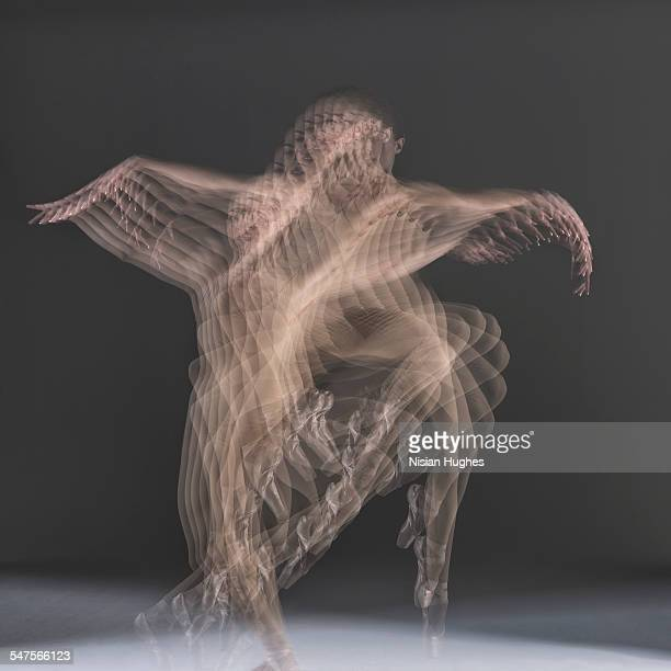 multiple exposure image of ballerina