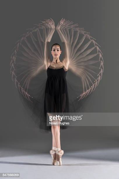 Multiple exposure of ballerina on pointe