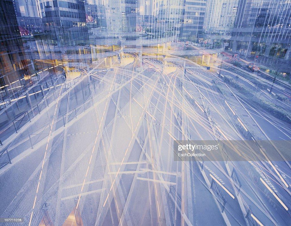 Multiple exposure of road infrastructure in Paris