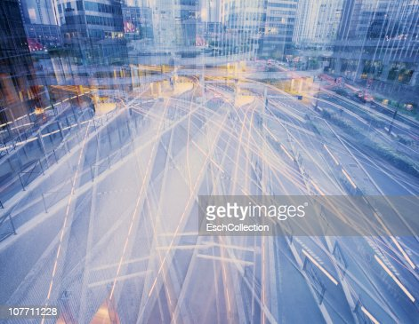 Multiple exposure of road infrastructure in Paris