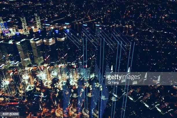 Multiple exposure of the Shanghai World Financial Center, Shanghai, China