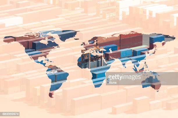 複数の露出の世界地図