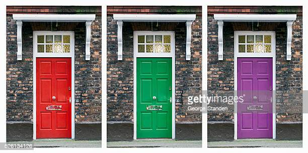 Multiple Front Doors Collage