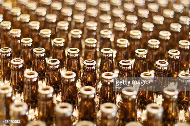 Multiple glass bottles